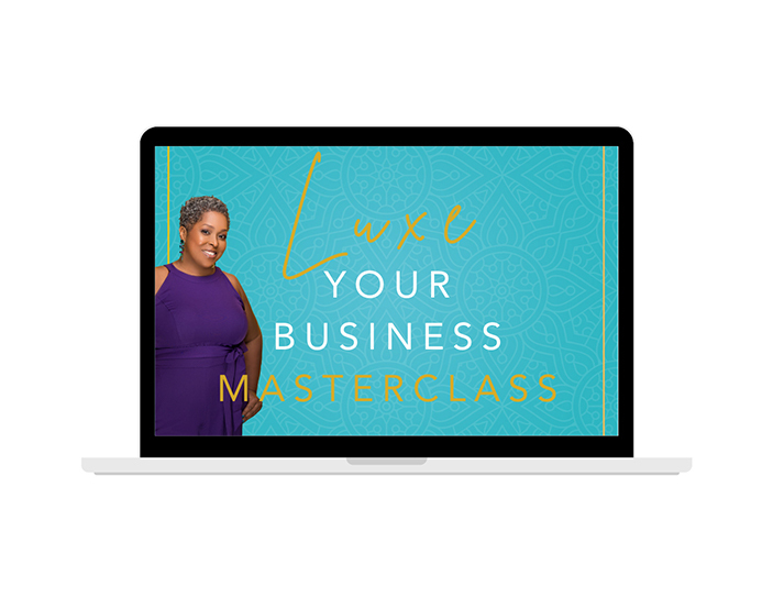 Luxe Your Business Masterclass computer